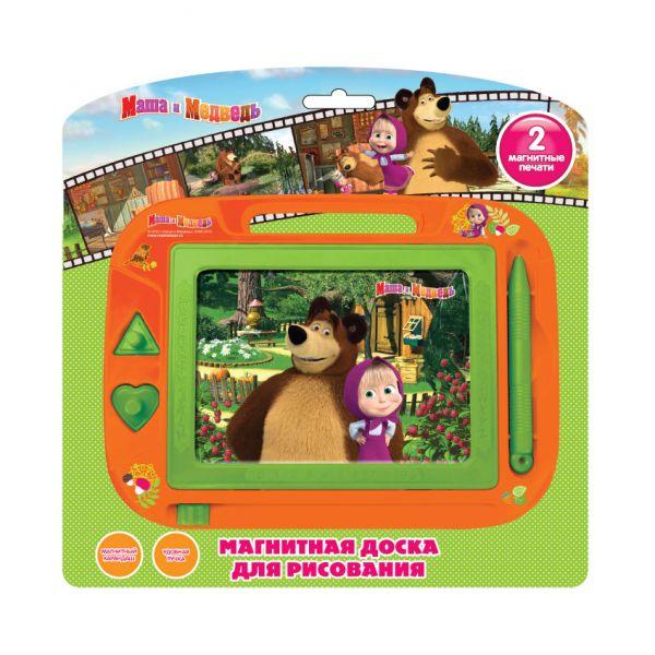 Магнитная доска для рисования - Маша и МедведьМольберты<br>Магнитная доска для рисования - Маша и Медведь<br>