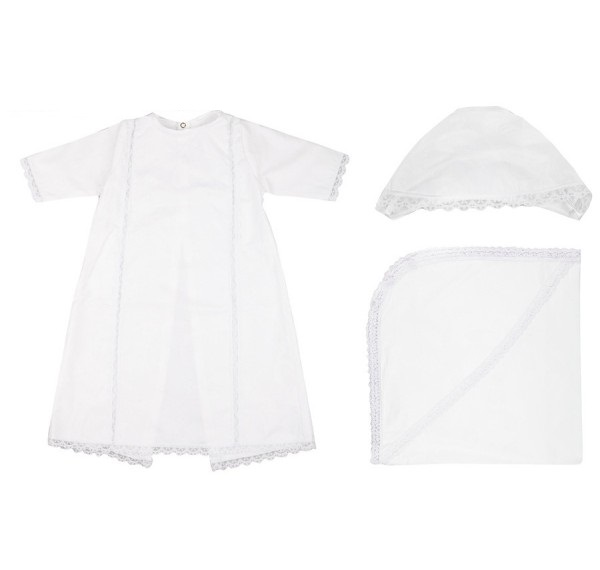 Крестильный набор для мальчика из серии Ангел, цвет белый, от 6 до 12 мес. от Toyway