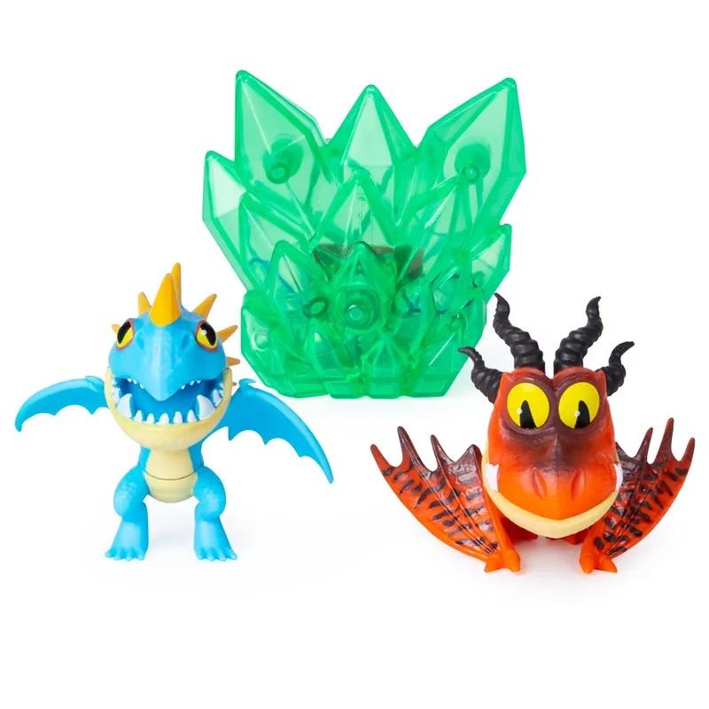 Купить Набор Как приручить дракона-3 - Громгильда и Кривоклык с кристаллом, 8 см, Spin Master