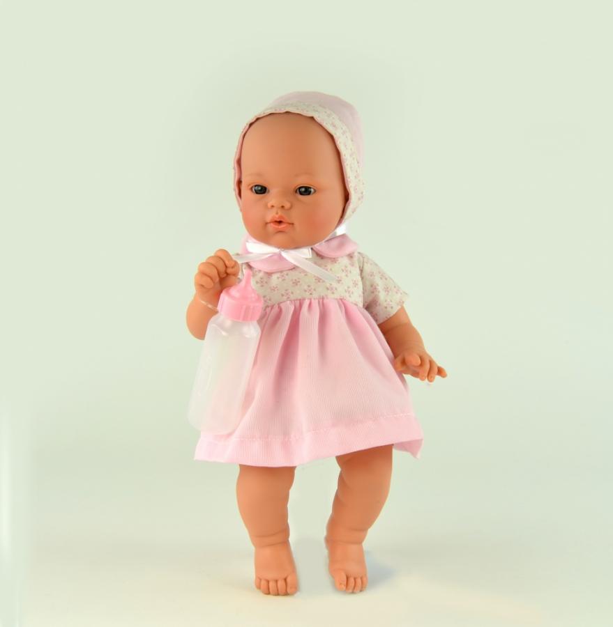 Кукла Коки озвученная, с бутылочкой, 36 см.Куклы ASI (Испания)<br>Кукла Коки озвученная, с бутылочкой, 36 см.<br>