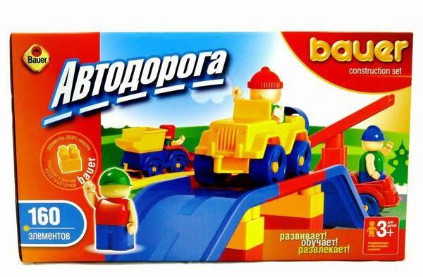 Автодорога New, 160 элементов - Конструкторы Bauer Кроха (для малышей), артикул: 127395