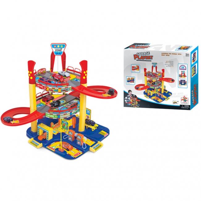 Игровой набор – Многоуровневый гараж с машинкамиДетские парковки и гаражи<br>Игровой набор – Многоуровневый гараж с машинками<br>