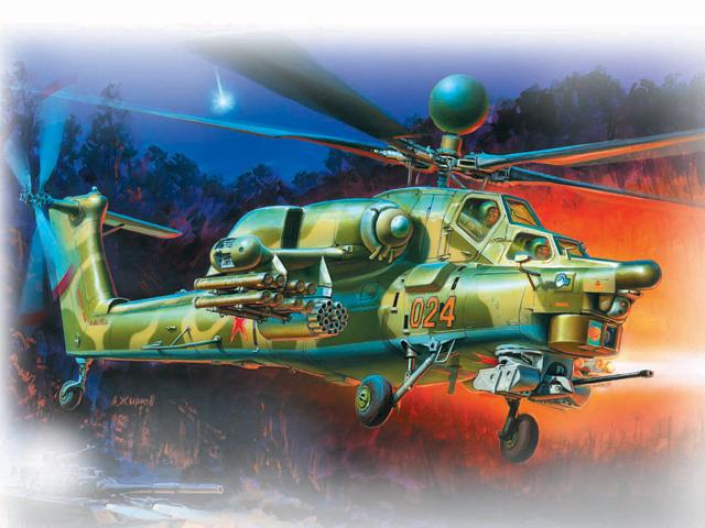 Модель для склеивания - Вертолёт Ми-28НМодели вертолетов для склеивания<br>Модель для склеивания - Вертолёт Ми-28Н<br>