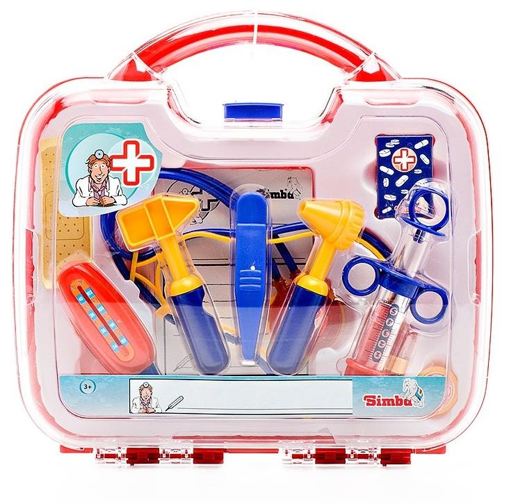 Докторские инструменты в пластиковом чемоданчике, 10 предметовНаборы доктора детские<br>Игровой набор доктора в чемоданчике состоит из 10 предметов...<br>