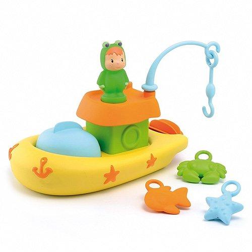 Набор для купания - Рыбацкая лодкаКорабли и катера в ванну<br>Набор для купания Рыбацкая лодка состоит из 9 предметов и доставит массу удовольствия малышу во время купания<br>Размеры: 24 * 16 * 14,5 см<br>
