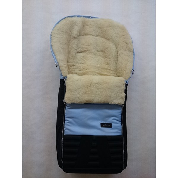 Спальный мешок в коляску №16 из серии Snowman, цвет – голубой - Прогулки и путешествия, артикул: 171100