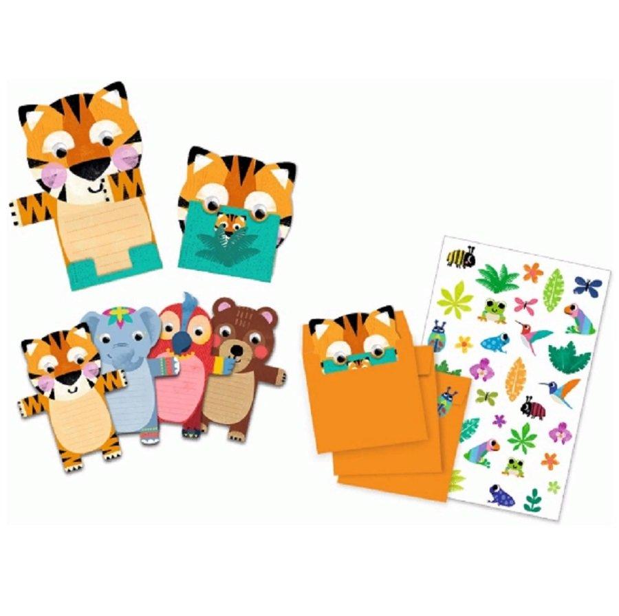 Купить Пригласительные открытки – Дикие животные, Djeco