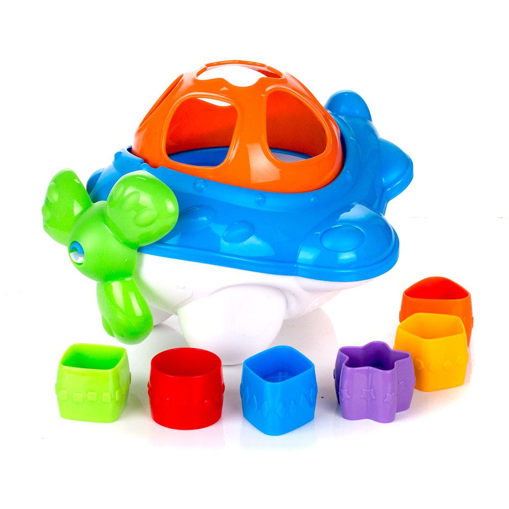 Дидактическая игрушка-сортер - СамолетСортеры, пирамидки<br>Дидактическая игрушка-сортер - Самолет<br>