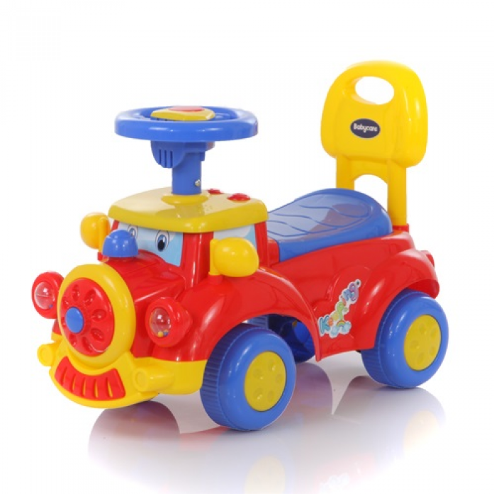 Детская красная машина-каталка Keeping, звуковые эффектыМашинки-каталки для детей<br>Детская красная машина-каталка Keeping, звуковые эффекты<br>
