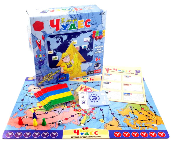 Игра настольная - В мире чудесРазвивающие<br>Игра настольная - В мире чудес<br>