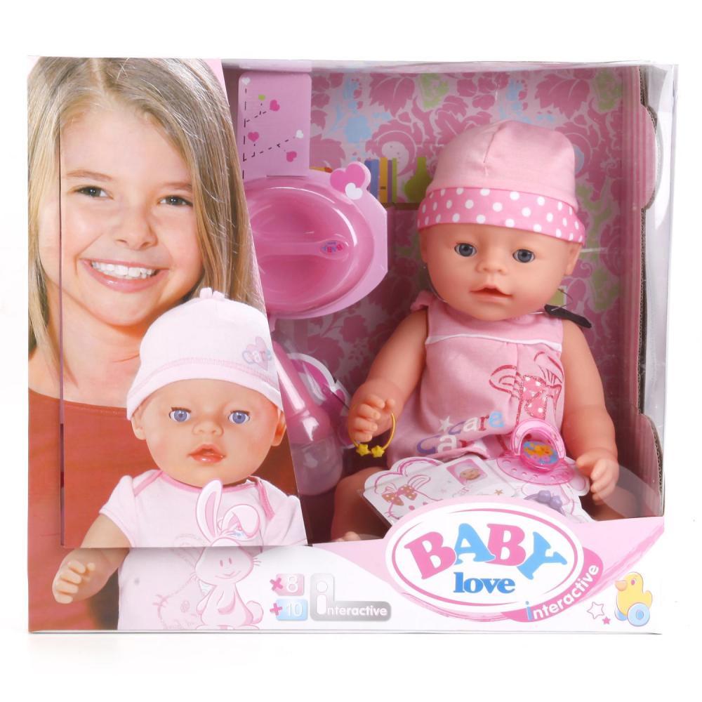Купить Интерактивная кукла – Пупс с аксессуарами, пьет и писает, 43 см, Baby love