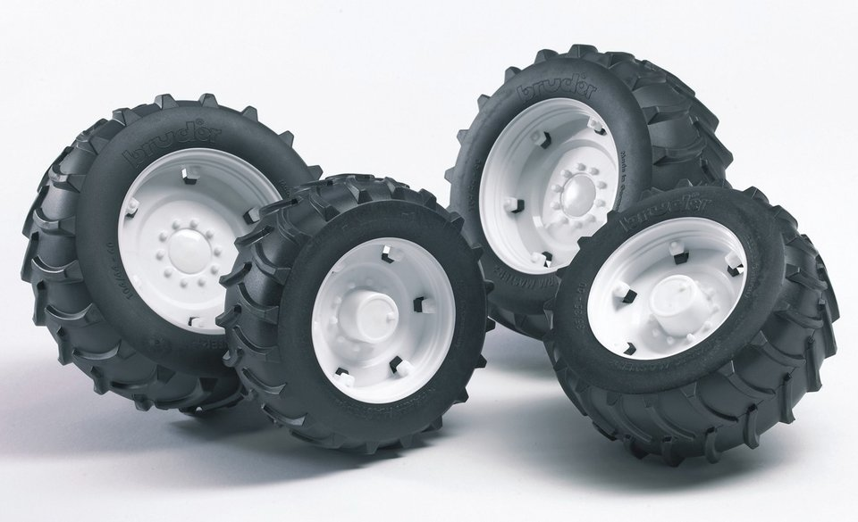 Шины для системы сдвоенных колес с белыми дискамиАксессуары<br>Шины для системы сдвоенных колес с белыми дисками<br>