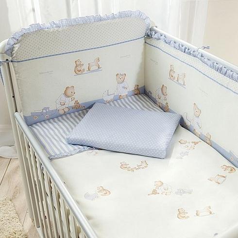 Комплект постельного белья для детей Perina™ - Тиффани, голубойДетское постельное белье<br>Комплект постельного белья для детей Perina™ - Тиффани, голубой<br>