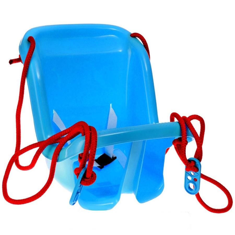 Большие синие качели с барьером безопасности по цене 874