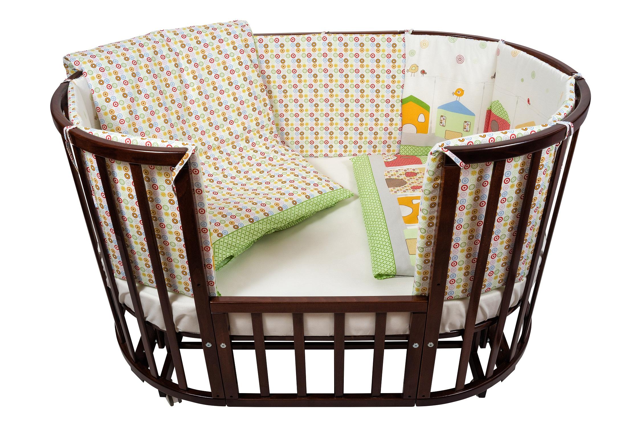 Комплект для кроватки Nuovita - Case, 6 предметов, зеленыйДетское постельное белье<br>Комплект для кроватки Nuovita - Case, 6 предметов, зеленый<br>