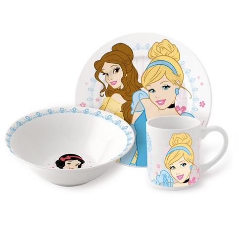 Набор керамической посуды Disney «Принцессы» в подарочной упаковкеТовары для кормления<br>Набор керамической посуды Disney «Принцессы» в подарочной упаковке<br>