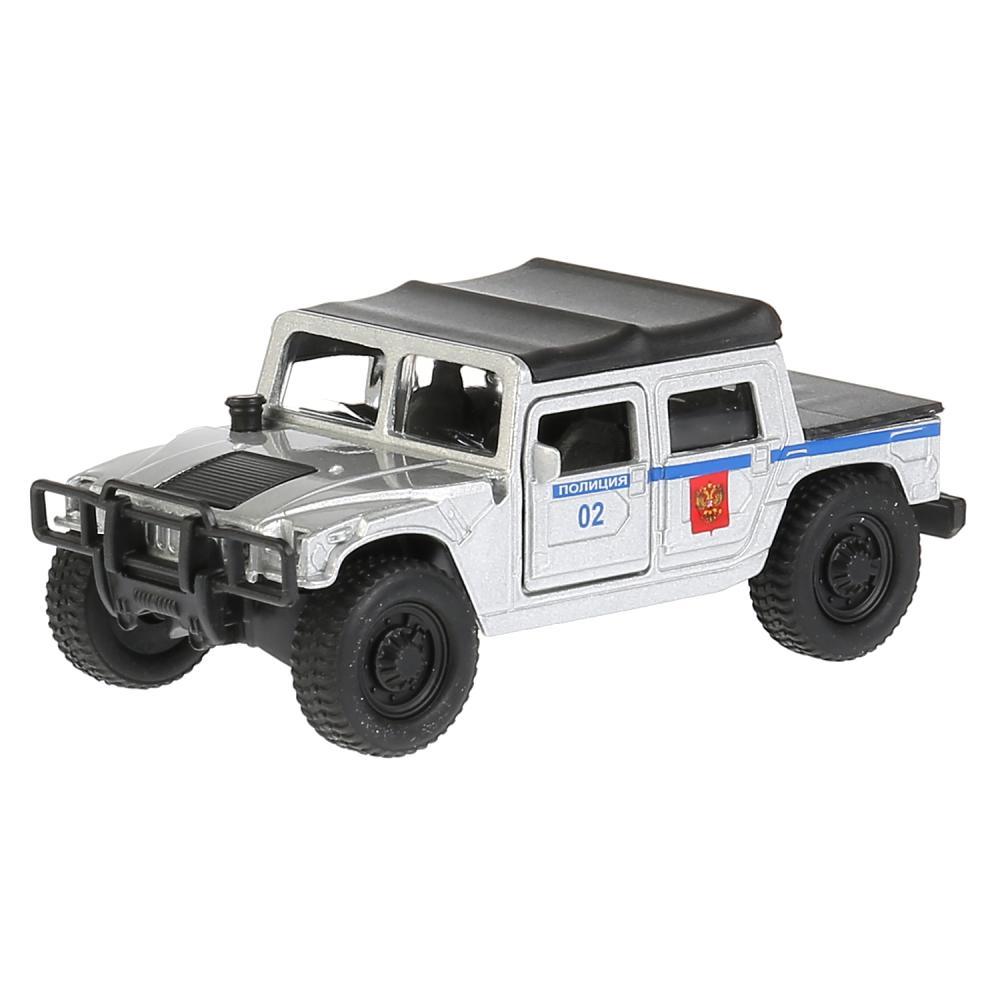 Купить Модель Hummer H1 пикап полиция, 12 см, открываются двери, инерционный, Технопарк