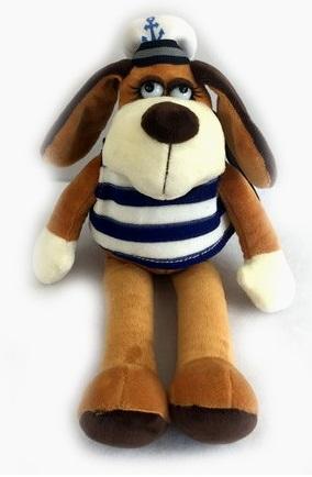 Мягкая игрушка - Собака в тельняшке, 15 смСобаки<br>Мягкая игрушка - Собака в тельняшке, 15 см<br>