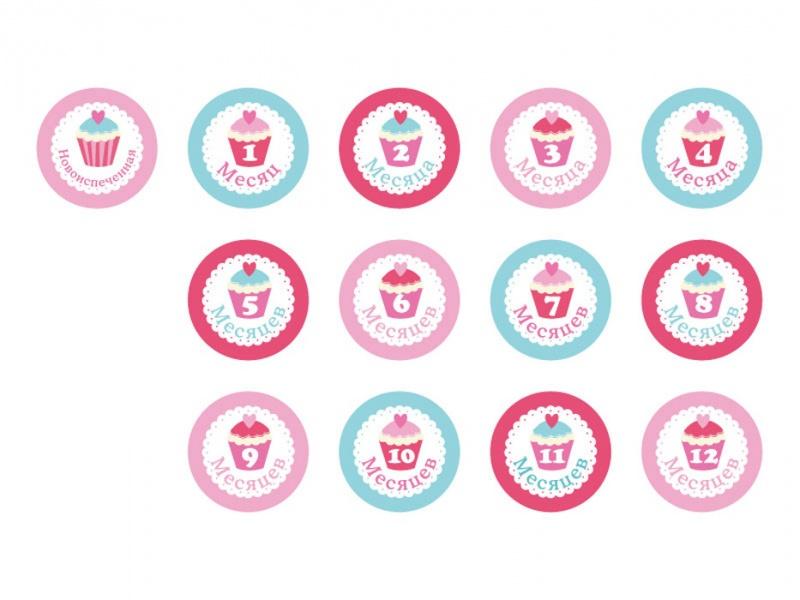Купить Набор стикеров для девочек Stick'n Click - Наша сладость, Happy line
