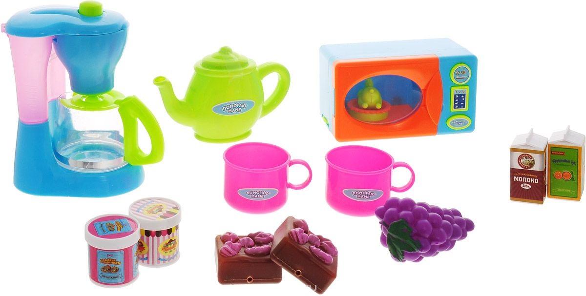 Помогаю Маме. Кухонная техника с продуктами, 14 предметовАксессуары и техника для детской кухни<br>Помогаю Маме. Кухонная техника с продуктами, 14 предметов<br>