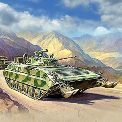 Модель для склеивания - Советский БМП-2ДМодели танков для склеивания<br>Модель для склеивания - Советский БМП-2Д<br>