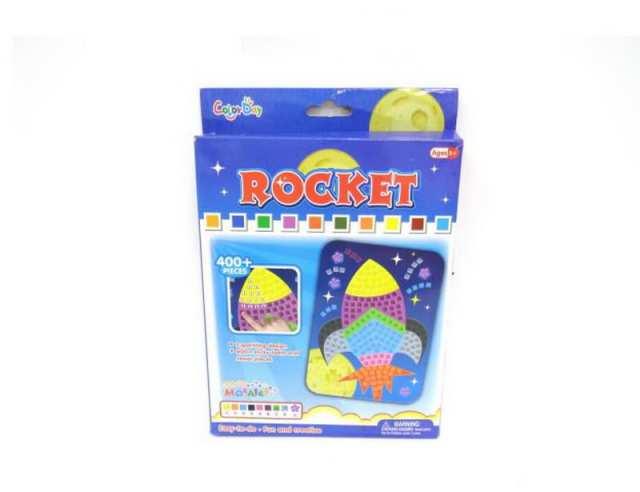 Мозаика - Ракета, более 400 деталей по цене 58