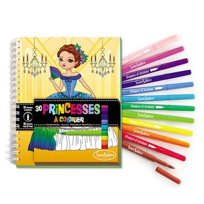 Набор для детского творчества. Раскраски с фломастерами - Принцессы
