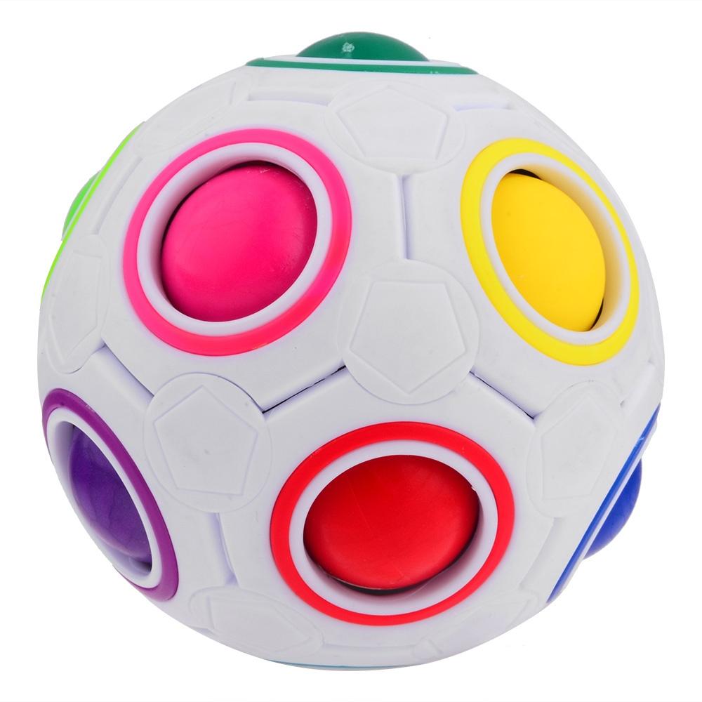 Мяч разноцветный развивающий, диаметр 7 см.