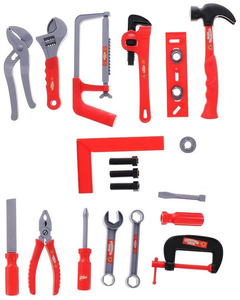 Помогаю папе. Набор инструментов, 21 предметДетские мастерские, инструменты<br>Помогаю папе. Набор инструментов, 21 предмет<br>