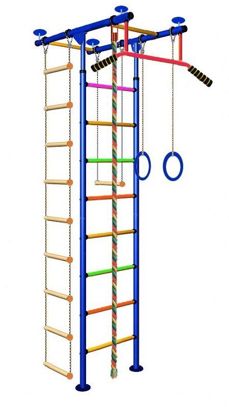 Купить Детский спортивный комплекс Юнга 2.1, цветные перекладины с ПВХ покрытием, Вертикаль
