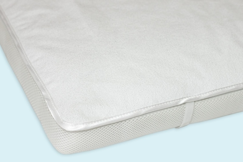 Махровая непромокаемая пеленка на резинке