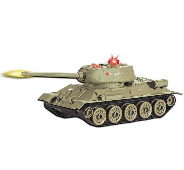 Танк на радиоуправлении Т-34 со светом и звукомРадиоуправляемые танки<br>Танк на радиоуправлении Т-34 со светом и звуком<br>