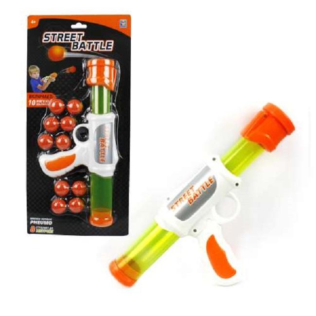 Игрушечное оружие Street Battle с 10 мягкими шариками по 2,8 см.