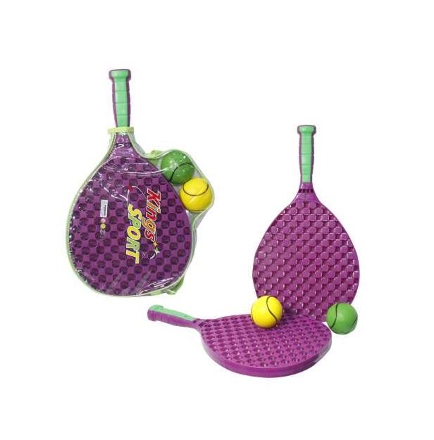 Купить Набор для тенниса с ракетками пластиковыми и 2 мячиками, 1TOY