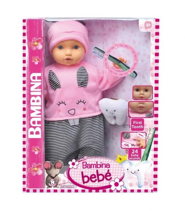 Кукла из серии Bambina Bebe, 46 см., Мой первый зуб, звуковые эффекты, DIMIAN  - купить со скидкой
