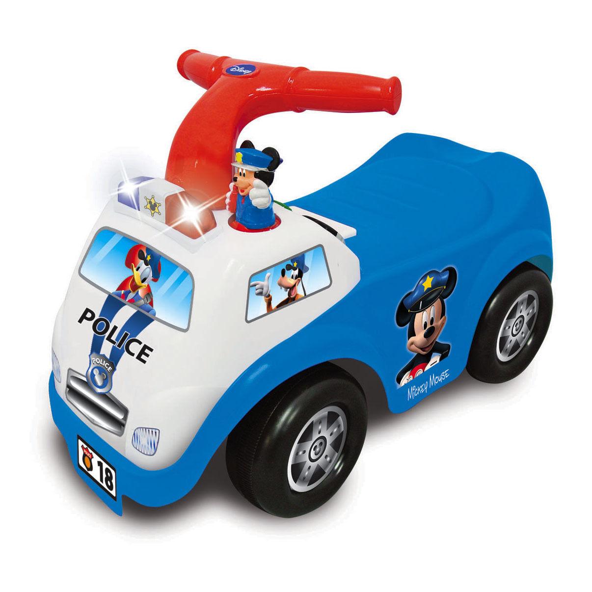 Каталка - пушкар Полицейская машина Микки Мауса, Kiddieland  - купить со скидкой