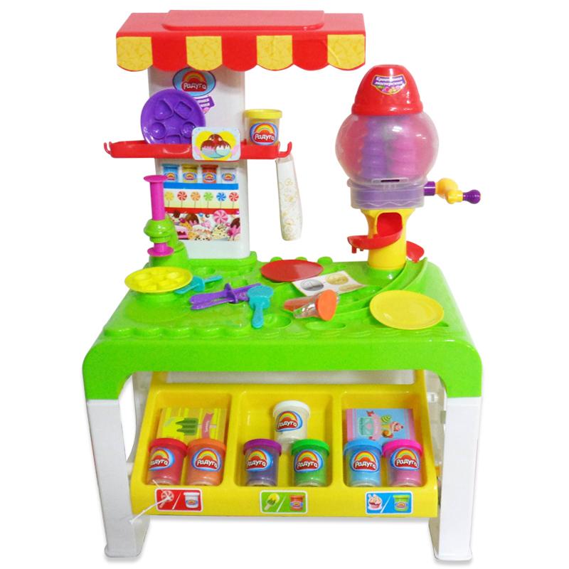 Набор - Креативная мастерская с массой для лепки 8 цветов, столом и тематическими аксессуарамиНаборы для лепки<br>Набор - Креативная мастерская с массой для лепки 8 цветов, столом и тематическими аксессуарами<br>