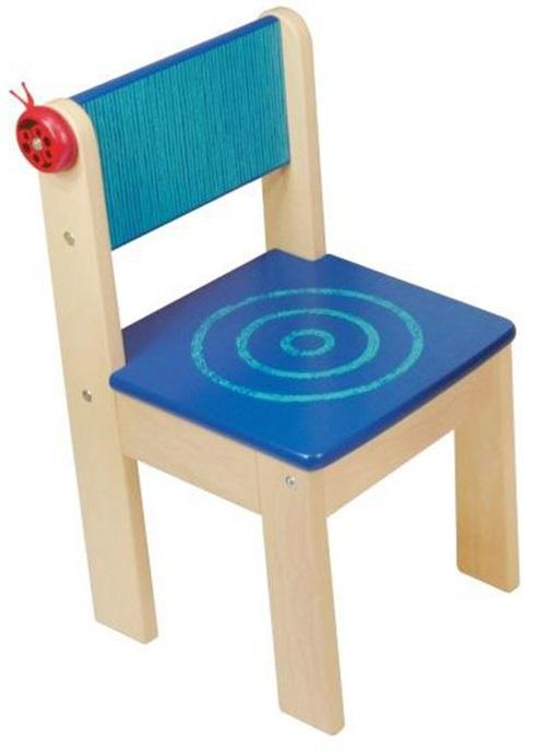 Деревянный стульчик Im Toy, голубойИгровые столы и стулья<br>Деревянный стульчик Im Toy, голубой<br>
