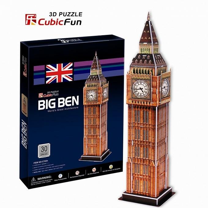 Купить Пазл объёмный серии Лондон Биг Бен 2, Cubic Fun