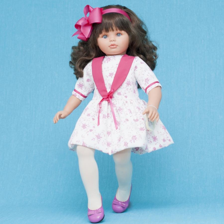 Кукла Пепа в нарядном платье в цветочек, 60 см.Куклы ASI (Испания)<br>Кукла Пепа в нарядном платье в цветочек, 60 см.<br>