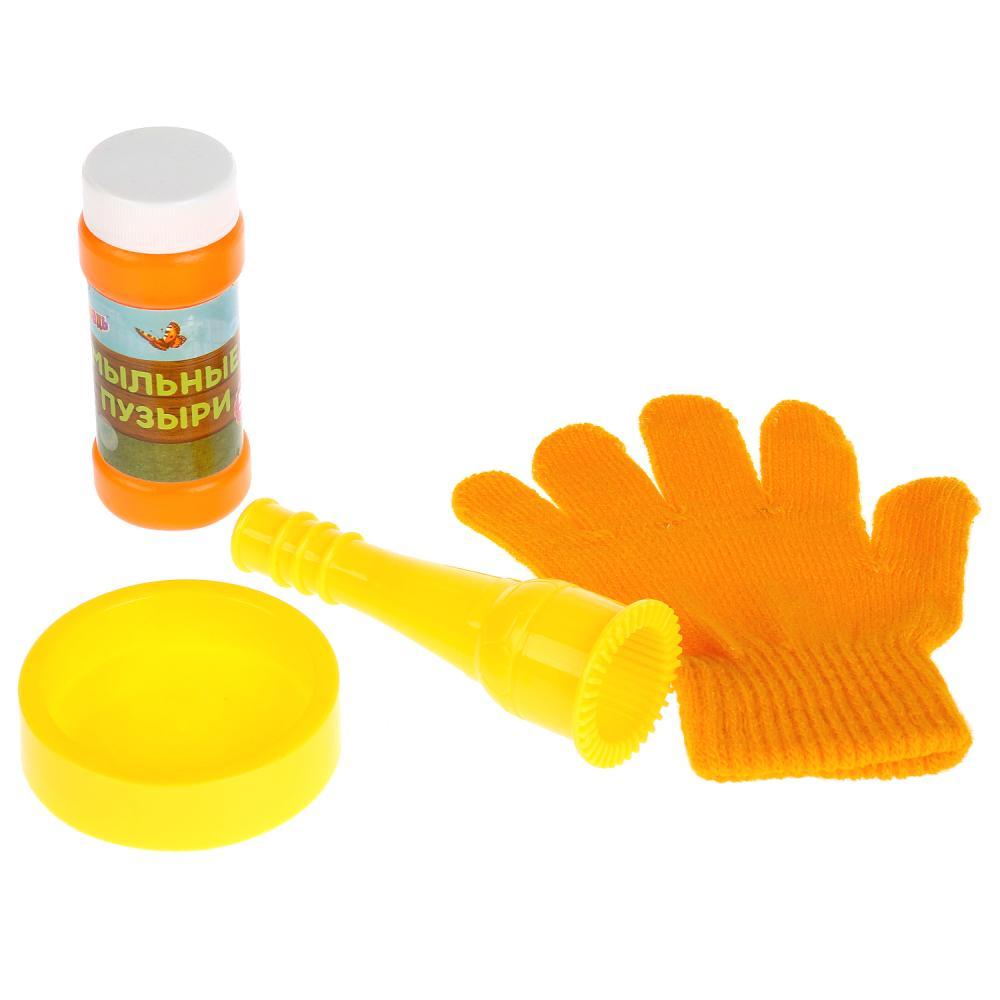 Набор для пускания мыльных пузырей Маша и медведь - Прыгунцы, перчатка, 50 мл