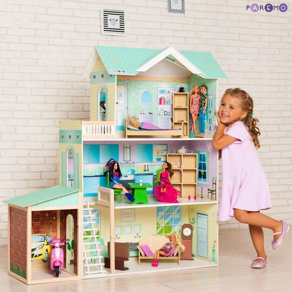 Кукольный дом с мебелью - Жозефина Гранд, 11 предметов, Paremo  - купить со скидкой