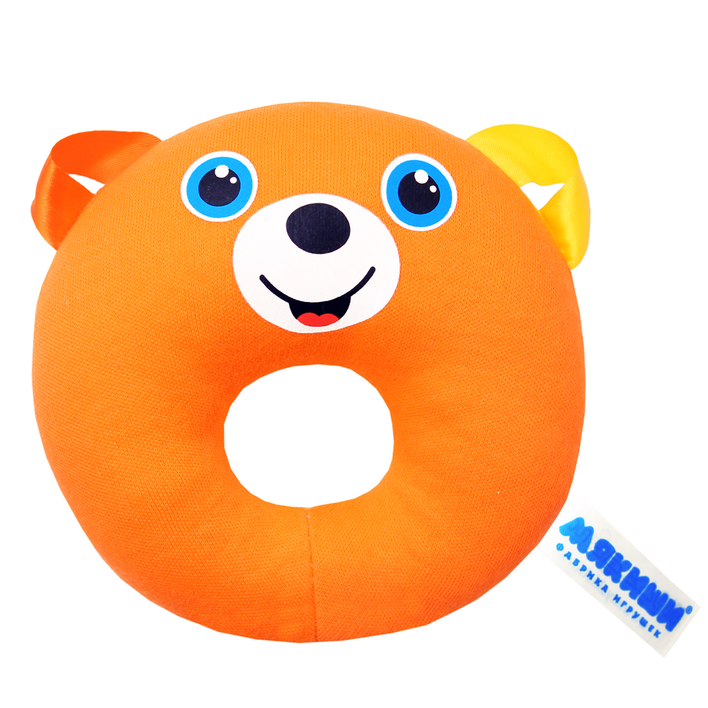 Игрушка колечко «Медвежонок» из серии ШумякишиДетские погремушки и подвесные игрушки на кроватку<br>Игрушка колечко «Медвежонок» из серии Шумякиши<br>
