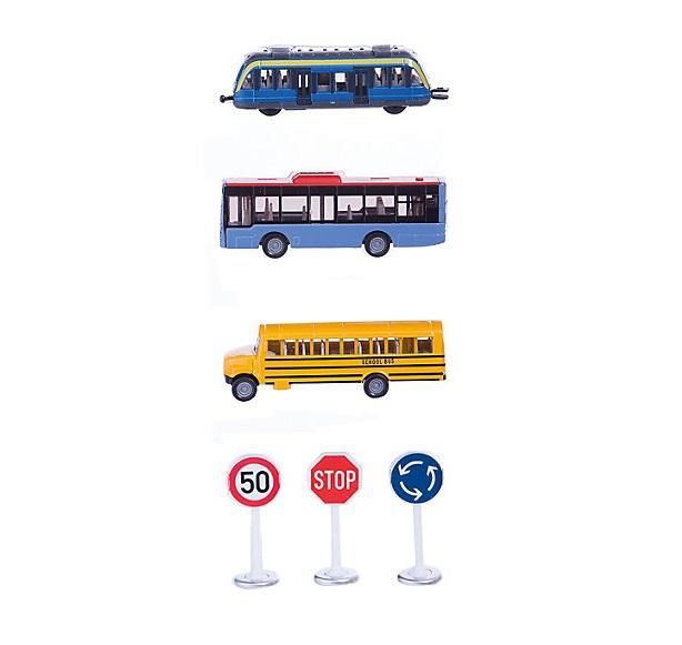 Игровой набор детский - Транспорт и дорожные знакиЗнаки дорожного движения, светофоры<br>Игровой набор детский - Транспорт и дорожные знаки<br>