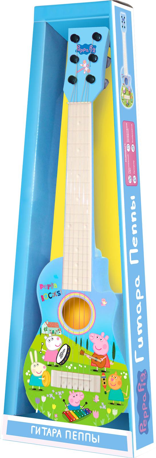 Гитара Свинки Пеппы, пластиковая, с медиатором - Гитары, артикул: 140848