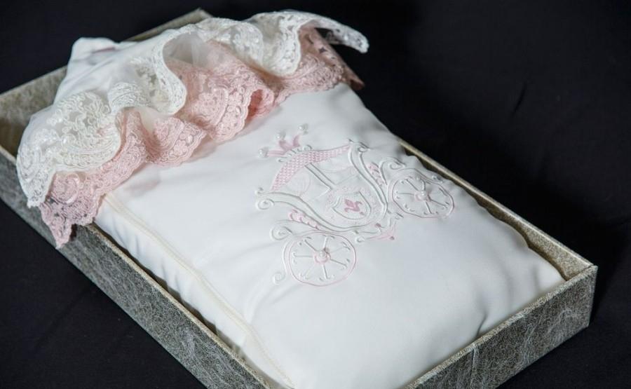 Комплект на выписку – Королевский, Л 4052, весна, молочный-пудра - Конверты, комплекты на выписку, артикул: 171302
