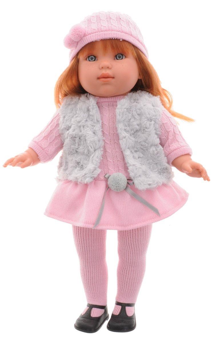 Кукла Лаура в розовой шапочке, 45 см.Испанские куклы Llorens Juan, S.L.<br>Кукла Лаура в розовой шапочке, 45 см.<br>