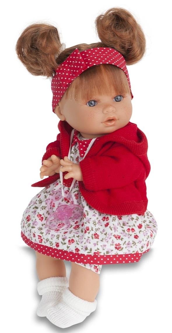 Кукла Кристи в красном, умеет плакать, 30 см.Куклы Антонио Хуан (Antonio Juan Munecas)<br>Кукла Кристи в красном, умеет плакать, 30 см.<br>