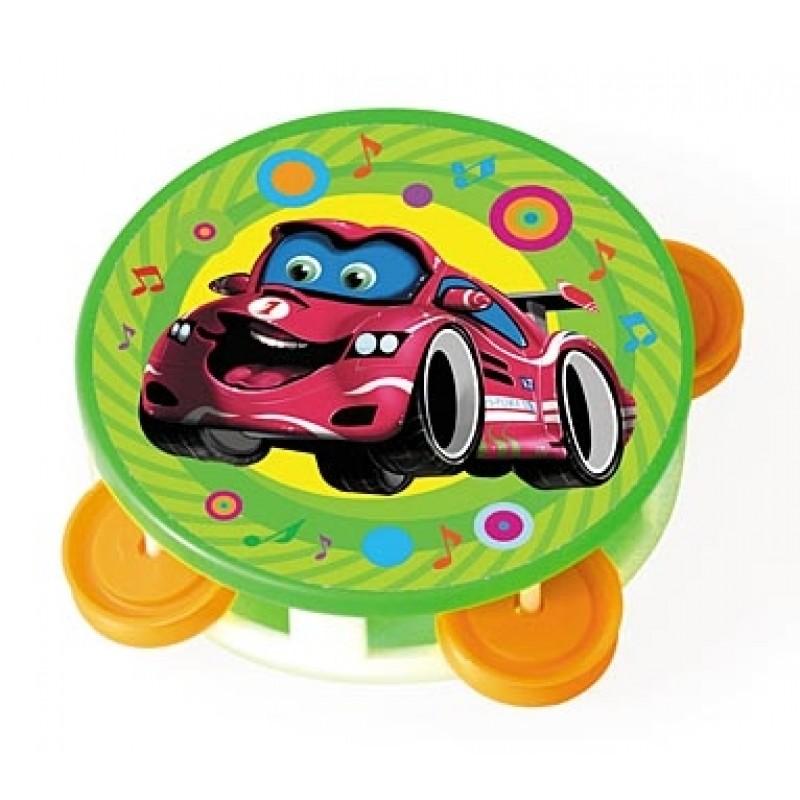Игрушка музыкальная - Бубен маленький - Супермашинка, Рыжий Кот  - купить со скидкой