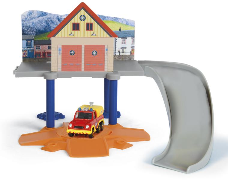 Маленький пожарный гараж и машинка из серии «Пожарный Сэм» - Пожарный СЭМ, артикул: 131669